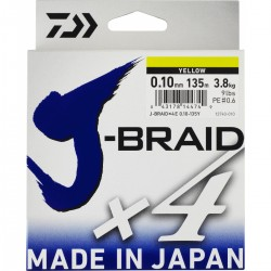 TRENZADO J-BRAID 0.19MM VERDE 135MT DAIWA