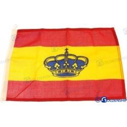BANDERA ESPAÑA 20X30CM CON CORONA